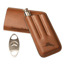 Tommy Bahama Brown Leather Case, , seriouscigars