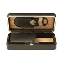 Black 3 Cigar Case with Cutter, , seriouscigars