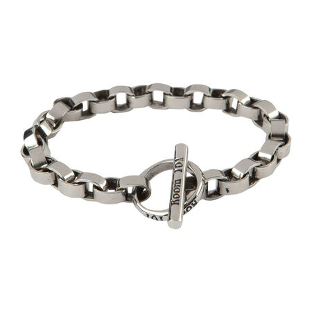 Stainless Circle Link Bracelet 8.5 In., , seriouscigars