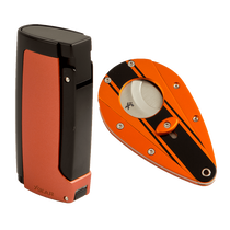 Orange Chopper Lighter + Cutter, , seriouscigars