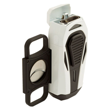 Boss White and Black Triple Jet Lighter, , seriouscigars