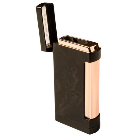 Prometheus Rose Gold / Black Matte Ultimo RG God of Fire 25th Anniversary Triple Torch Lighter, , seriouscigars