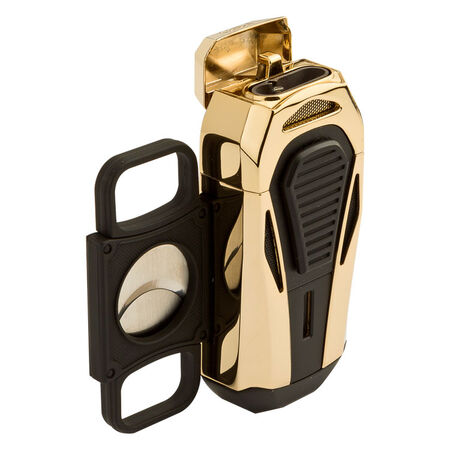 Boss Polished Gold Triple Jet Lighter, , seriouscigars