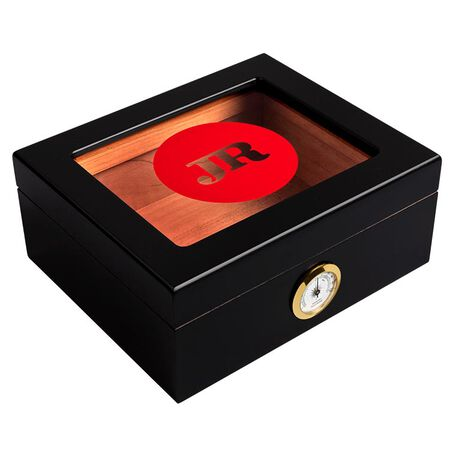 JR Glass-Top Wood Humidor With Hygrometer, , seriouscigars