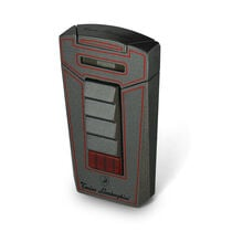 Grey and Red Aero Lighter, , seriouscigars