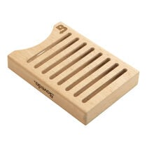 Double Packet Stacked Wood Holder, , large