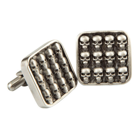 Stainless Mini Skull Cufflinks, , seriouscigars