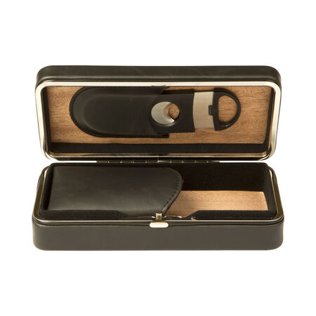 Black 3 Cigar Case w/ Cutter, , seriouscigars