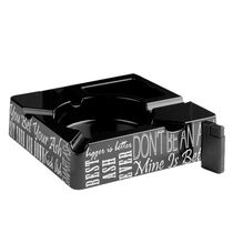 Black Ashtray and Lighter Patio Gift Set, , seriouscigars