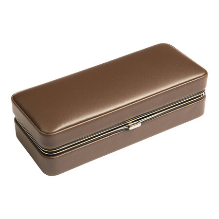 Brown 3 Cigar Case w/ Cutter, , seriouscigars
