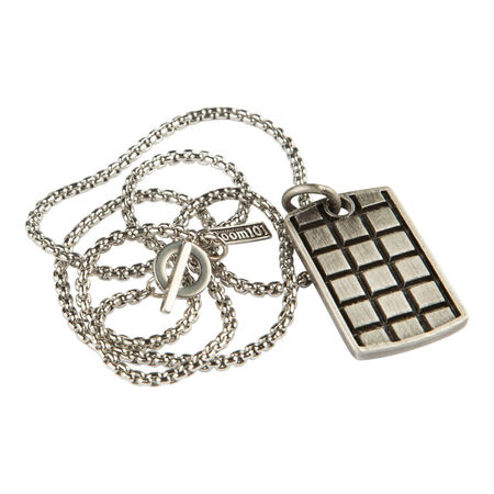 Stainless Raised Checker Dogtag, , seriouscigars