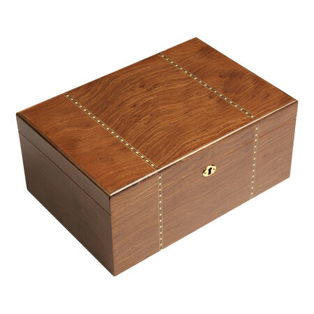 Ashton Ironwood Marquetry Humidor Large, , large
