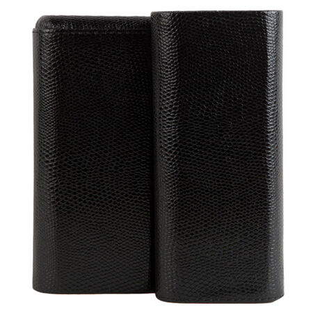3-Churchill Sharkskin Black Case, , seriouscigars
